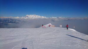 Výhled z Gipfel na Dachstein
